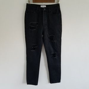 Tobi High Waisted Distressed Girlfriend Jean's 26